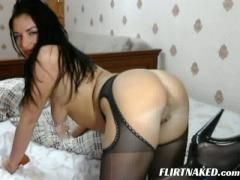 Big tits brunette in sexy lingerie