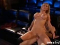 Typical night in the cinema with nikki benz