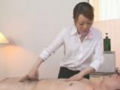 Japanese massage female masseuse with a guy caught