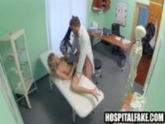 Pint sized blonde patient fucked by hers