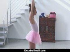 Exxxtrasmall tiny ballerina fucks her i