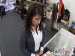 Milf sells her husbands stuff