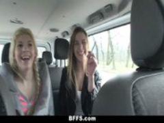Bffs slutty euro teens go on a crazy ro
