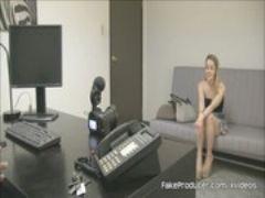 Fakeproducer casting skinny blonde alexia