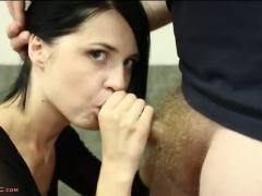 Petite lana sweat sucks cock gets fucked hard and takes cums
