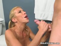 Hot wife alexis fucks and sucks young pervert guy