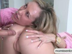 Big tits mature milf brandi love amazing threesome session