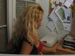 Bored office secretary has fun julia reaves