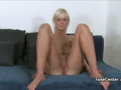 Mature blonde fucked in cast office