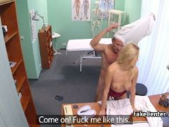 Blonde nurse got fucked by doctor
