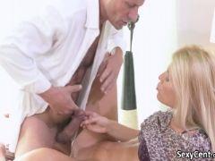 Hot blonde milf deep fucked
