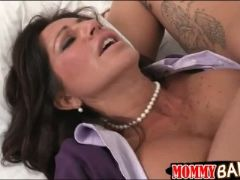 Teen shared her bf with busty milf and fucked her in the ass