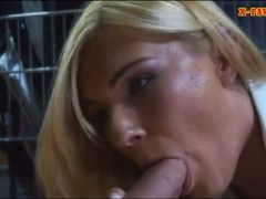 Hot blonde milf banged by horny pawn guy to earn more cash