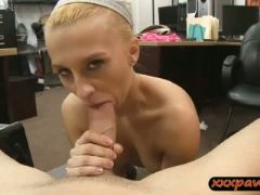 Cute blonde babe pounded by pawn dude at the pawnshop