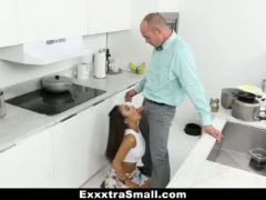 Exxxtrasmall lovely little spinner pounded by her step dad