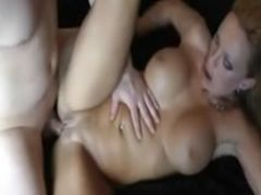 Homemade cuckold busty milf double penetrated