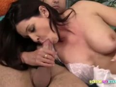 Mature eating stepson s cock