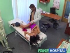 Fakehospital beautiful patient gets dirty doctors cum cream prescription for her blemished skin