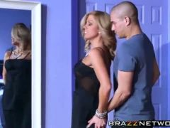 Blonde chick parker swayze with big boobs rides a big cock