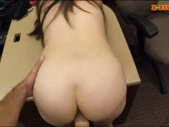 Ex dominatrix screwed by horny pawn man in his pawnshop