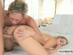 Dude busted milf and his gf had lesbosex and enjoyed orgy