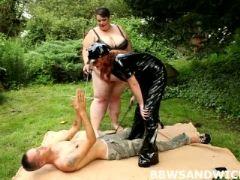 Euro bbw femdom with two big busty girls