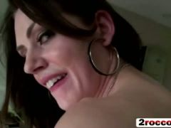 Beautiful brunette whore takes massive cock in her ass