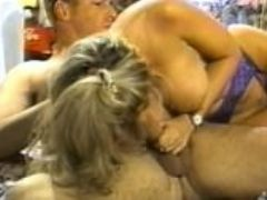 Big boob blonde sucking and riding cock