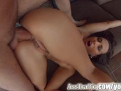 Asstraffic stunning babe gets her ass fucked hard