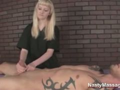 Masseuse satisfies her customer