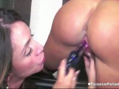 Big booty babe ariella gets her pussy eaten