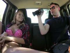 Stranded jill kassidy flaunts pussy in a strangers car