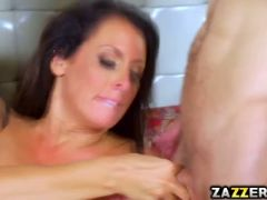 Reagan foxx chaotic threesome fuck fest with two cocks