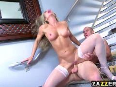 Nina dolci rides on top of sean lawless big cock