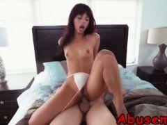 Babe gina valentina abused riding cock small tits