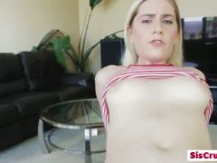 Delicious niki snow rides step brother s dick till he cums in her youn