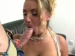 Big breasted mom fucks in pov style