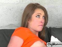 Horny stepmom jamie valentine fucking her lads gf in threesome