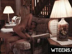 Naughty blonde bitch goldie rush abused and fucked hard by a tattoed g