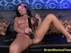 Nadia capri goes to pup play slave training for her horny thoughts