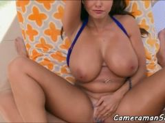 Hugetits babe pov buttfucked in gaping ass