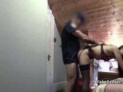 Brunette rimming ass of a cop
