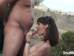 Super sexy milf fucked and eats cum