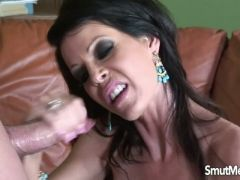 Milf pornstar tabitha takes hard cock and cum in mouth