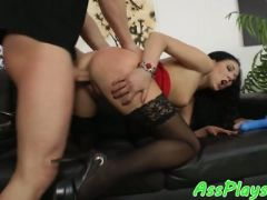 European beauty anally fucked by big cock