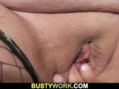 She leaves and he bangs bbw in fishnets