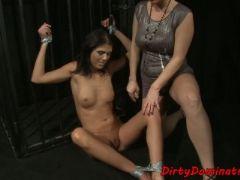 Bondage babe pussytoyed by perfect mistress