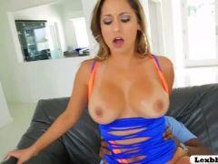Slutty hot chick reena shakes her big ass on lexs bbc