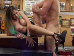 Babe with natural tits ivy rose gets fucked by shawn in his office