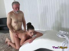 Teen anita bellini has dirty old man fuck her